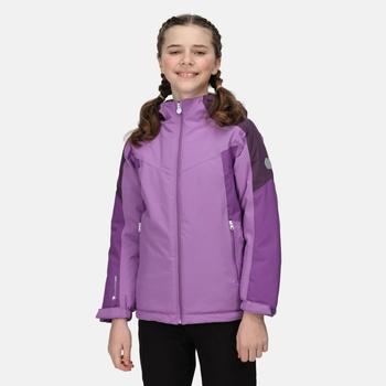 Kids' Highton II Waterproof Insulated Jacket Hyacinth Dark Aubergine Marl Purple Sapphire