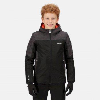 Kids' Volcanics V Waterproof Insulated Jacket Black Ash