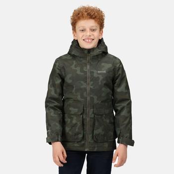 Kids' Salman Waterproof Insulated Jacket Dark Khaki Camo