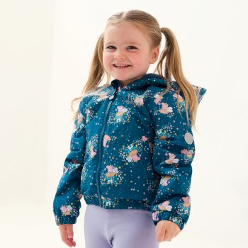 Dziecięca kurtka przejściowa ocieplana Peppa Muddy Puddle niebieska