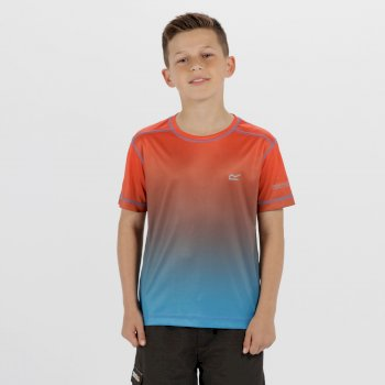 Kids Fazed Quick Dry T-Shirt Neon Peach Pluto