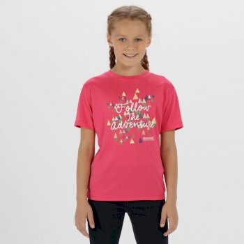 Kids Alvarado III  Quick Dry T-Shirt Hot Pink