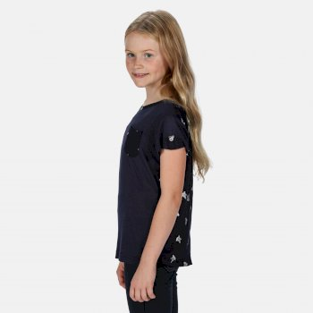 Kids' Chara Printed T-Shirt Navy Print