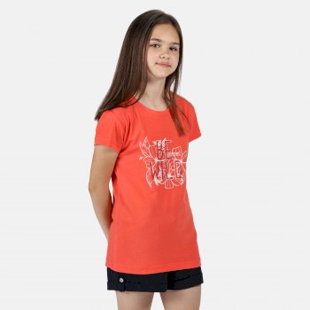 Kids' Bosley III Printed T-Shirt Fiery Coral Wild Print