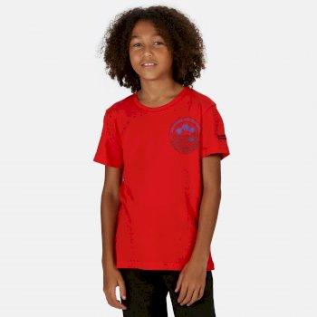 Kids' Bosley III Printed T-Shirt True Red Summer Print