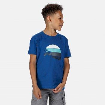 Kids' Bosley III Printed T-Shirt Nautical Blue Print