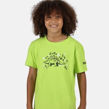 Kids' Bosley III Printed T-Shirt Electric Lime Dinosaur Print