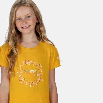 Kids' Bosley III Printed T-Shirt California Yellow Summer Print