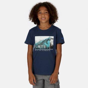 Kids' Bosley III Printed T-Shirt Dark Denim Mountain Print