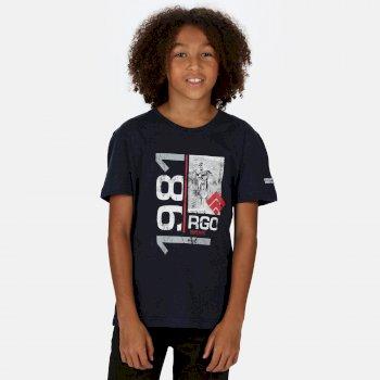 Kids' Bosley III Printed T-Shirt Navy 1981 Print