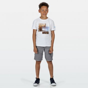 Kids' Bosley III Printed T-Shirt White City Print