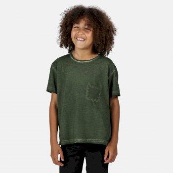 Kids' Ayan Coolweave T-Shirt Racing Green