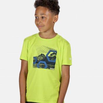Kid's Alvardo V Graphic T-Shirt Electric Lime