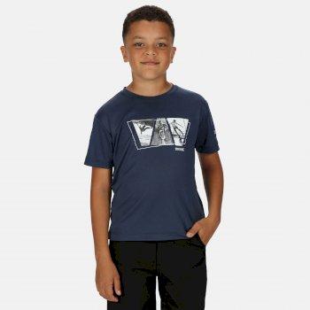 Kid's Alvardo V Graphic T-Shirt Dark Denim