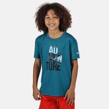 Kid's Alvardo V Graphic T-Shirt Olympic Teal