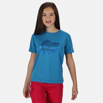 Kid's Alvardo V Graphic T-Shirt Blue Aster