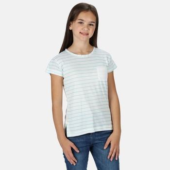 Kids' Charabee Lightweight T-Shirt White Aruba Blue Stripe