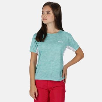 Kids' Takson III Marl Active T-Shirt Cool Aqua White