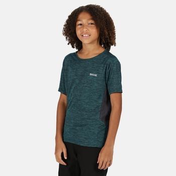 Kids' Takson III Marl Active T-Shirt Deep Teal Seal Grey