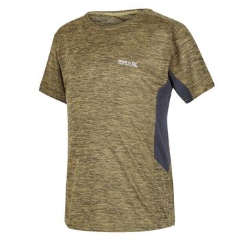 Kids' Takson III Marl Active T-Shirt Grapefruit Seal Grey