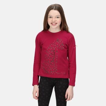 Dziecięca koszulka Wenbie II bordowa