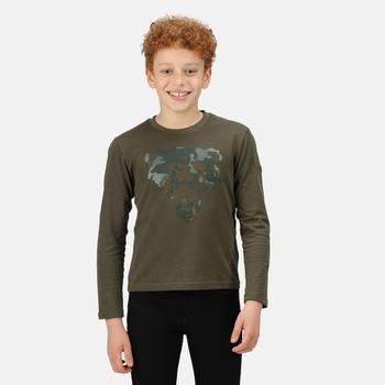 Dziecięca koszulka Wenbie II ciemne khaki