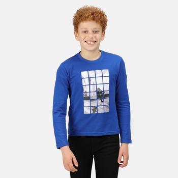 Dziecięca koszulka Wenbie II niebieska