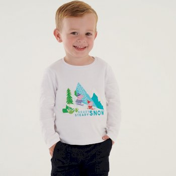 Peppa Pig Long Sleeved Graphic T-Shirt White
