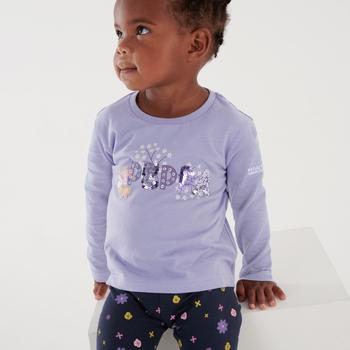 Peppa Pig Long Sleeved Graphic T-Shirt Lilac Bloom