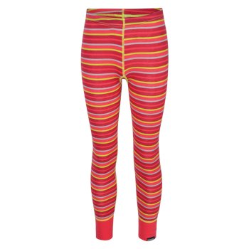Kids Nessus Striped Overhead Base Layer Pants Bright Blush