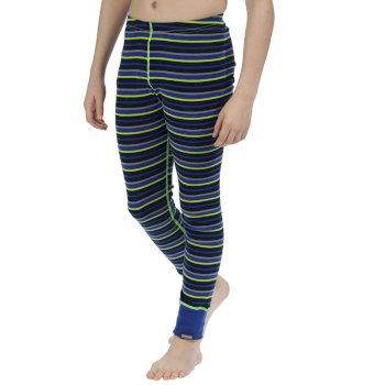 Kids Nessus Striped Overhead Base Layer Pants Surfspray Blue