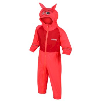 Kids' Charco Waterproof Puddle Suit Fiery Coral