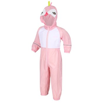 Kids' Charco Waterproof Puddle Suit Pastel Pink Toucan