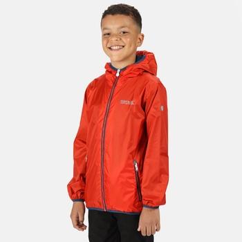 Kids' Lever II Waterproof Packaway Jacket Amber Glow