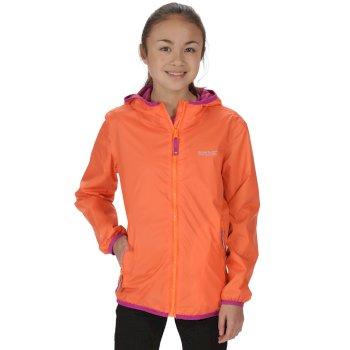 Kids Lever II Breathable Waterproof Hooded Jacket Magma Orange