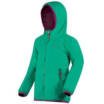 Kids Lever II Breathable Waterproof Hooded Jacket Pale Jade