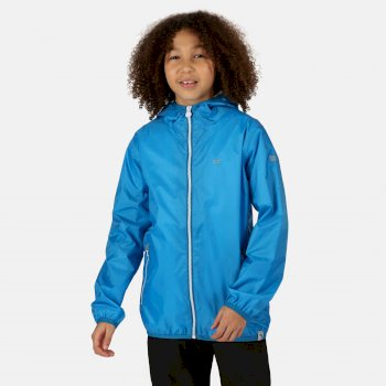 Kids' Lever II Waterproof Packaway Jacket Blue Aster
