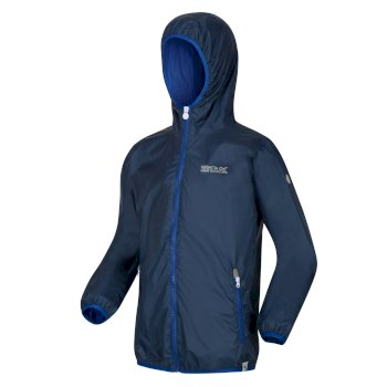 Kids' Lever II Waterproof Packaway Jacket Dark Denim Nautical Blue