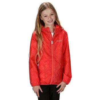Dziecięca kurtka przeciwdeszczowa Lever pomarańczowa
