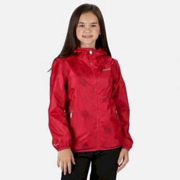 Kids' Printed Lever Packaway Lightweight Waterproof Walking Jacket Duchess Petal