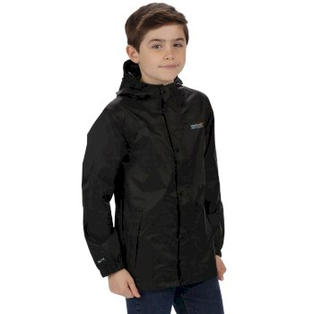 Kids Pack It Jacket II Lightweight Breathable Waterproof Packaway Black