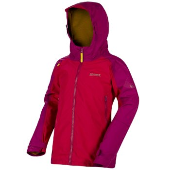 Kids Allcrest II Breathable Waterproof Hooded Jacket Duchess Vivid Viola