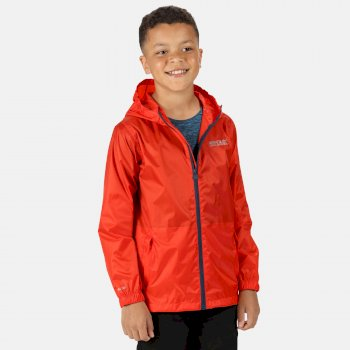 Kids' Pack It Waterproof Packaway Jacket Amber Glow
