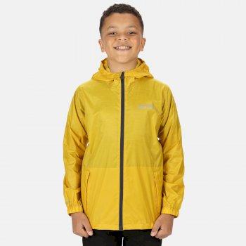 Dziecięca kurtka przeciwdeszczowa Pack It Jkt II żółta