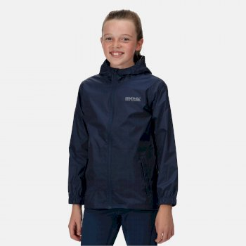 Kids' Pack It Lightweight Waterproof Hooded Packaway Jacket Midnight