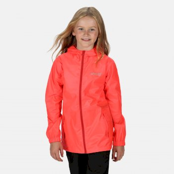 Kids' Pack It Waterproof Jacket Fiery Coral