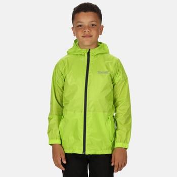 Kids' Pack It Waterproof Jacket Lime Punch