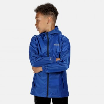 Kids' Pack It Lightweight Waterproof Hooded Packaway Walking Jacket Nautical Blue