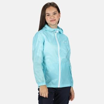 Kids' Pack It Waterproof Packaway Jacket Cool Aqua