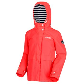 3cec797f3c8 Kids  Bambalina Lightweight Waterproof Jacket Fiery Coral